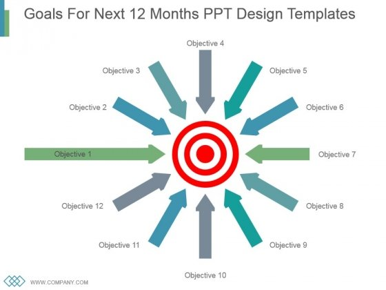 Goals For Next 12 Months Ppt Design Templates