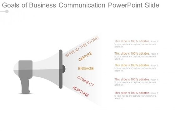 Goals Of Business Communication Powerpoint Slide