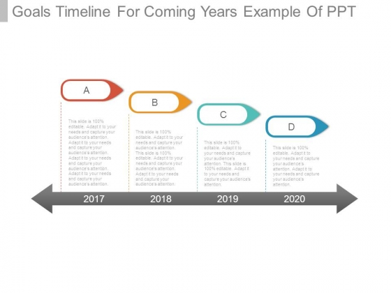 Goals Timeline For Coming Years Example Of Ppt