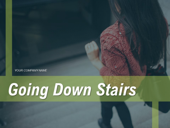 Going Down Stairs Metro Platform Guiding Audience Ppt PowerPoint Presentation Complete Deck
