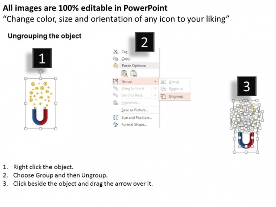 Gold_Dollar_Coins_On_Magnet_Powerpoint_Template_2