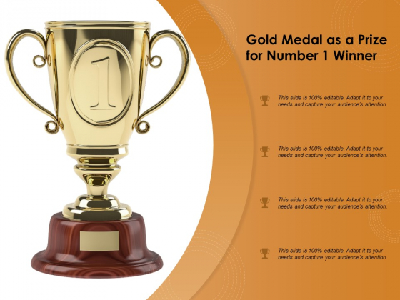 Gold Medal As A Prize For Number 1 Winner Ppt PowerPoint Presentation File Portfolio PDF