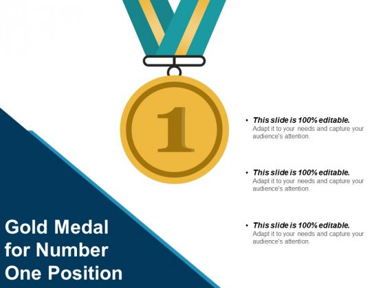 Gold Medal For Number One Position Ppt PowerPoint Presentation Infographic Template Infographics