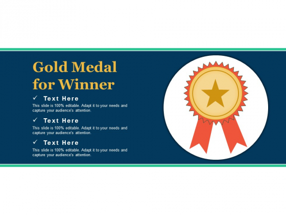Gold Medal For Winner Ppt PowerPoint Presentation Show