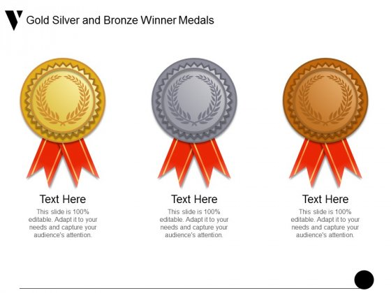 Gold Silver And Bronze Winner Medals Ppt PowerPoint Presentation Outline Grid