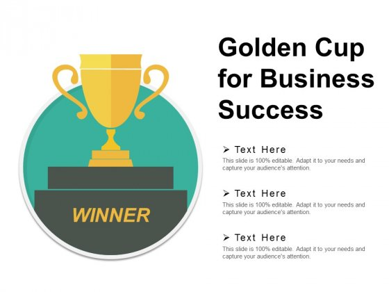 Golden Cup For Business Success Ppt PowerPoint Presentation Infographics Portrait