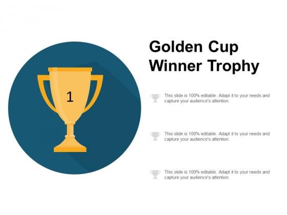 Golden Cup Winner Trophy Ppt PowerPoint Presentation Summary Demonstration