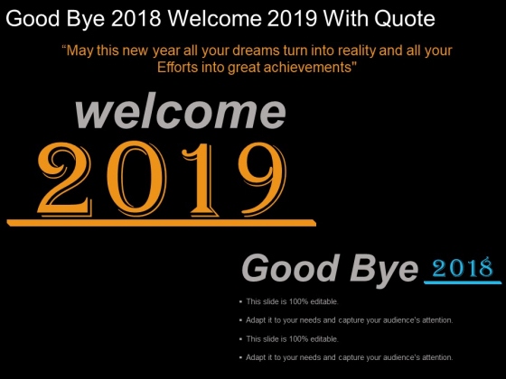 good bye welcome quote ppt powerpoint presentation
