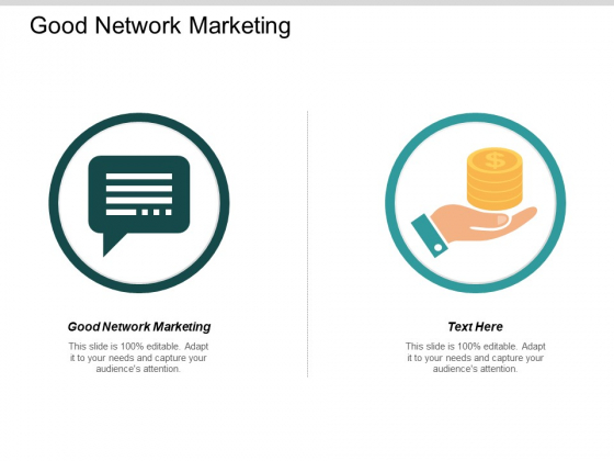Good Network Marketing Ppt PowerPoint Presentation Styles Rules Cpb