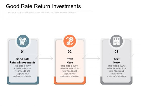 Good Rate Return Investments Ppt PowerPoint Presentation Icon Good Cpb