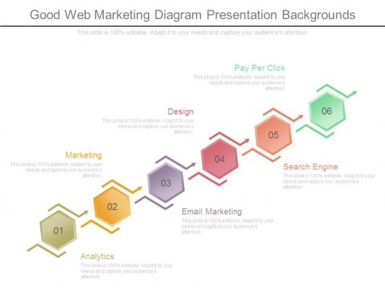 Good Web Marketing Diagram Presentation Backgrounds