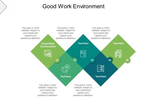 Good Work Environment Ppt PowerPoint Presentation Ideas Inspiration Cpb