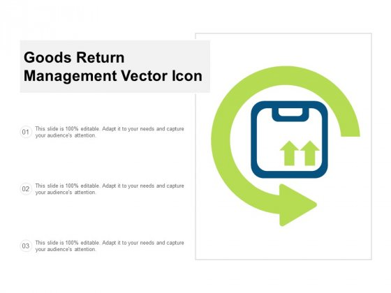 Goods Return Management Vector Icon Ppt Powerpoint Presentation Slides Model