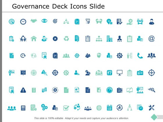 Governance Deck Icons Slide Ppt PowerPoint Presentation Ideas Templates