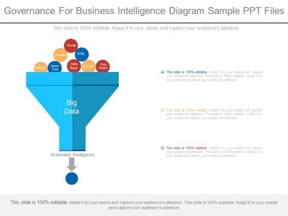 Governance For Business Intelligence Diagram Sample Ppt Files