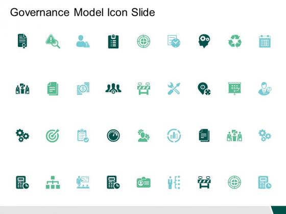 Governance Model Icon Slide Marketing Ppt PowerPoint Presentation Model Inspiration