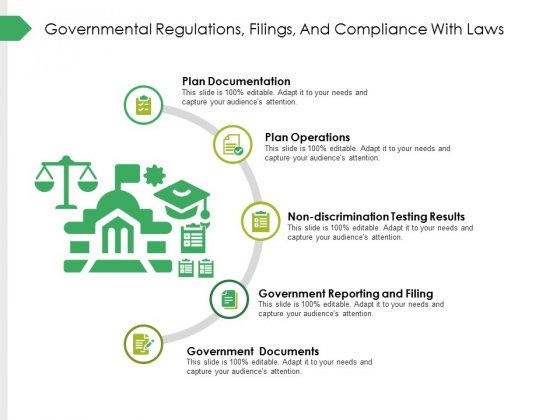 Governmental Regulations Filings And Compliance With Laws Ppt PowerPoint Presentation Infographics Deck