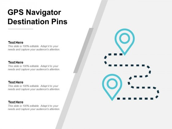 Gps Navigator Destination Pins Ppt PowerPoint Presentation Summary Example