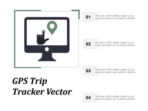 Gps Trip Tracker Vector Ppt PowerPoint Presentation Portfolio Icon