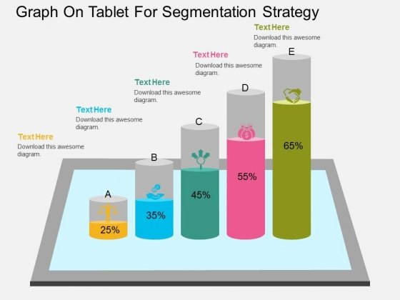 Graph On Tablet For Segmentation Strategy Powerpoint Template