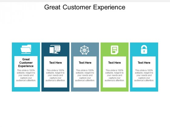 Great Customer Experience Ppt PowerPoint Presentation Ideas Slide Portrait Cpb