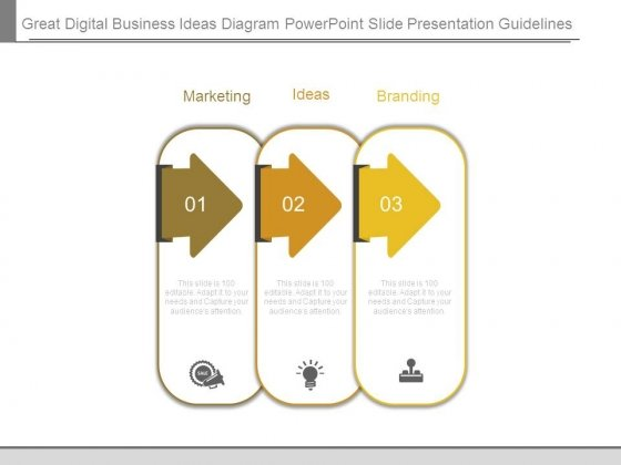 Great Digital Business Ideas Diagram Powerpoint Slide Presentation Guidelines