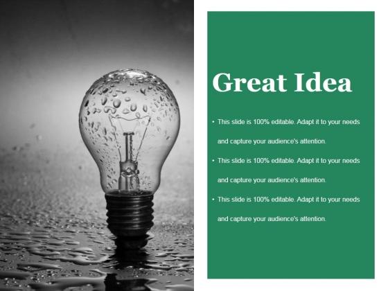 Great Idea Ppt PowerPoint Presentation Professional Slide Download