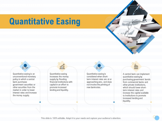 Great Recession In United States Quantitative Easing Ppt Layouts Icon PDF