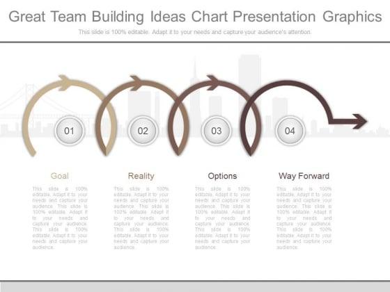 Great Team Building Ideas Chart Presentation Graphics