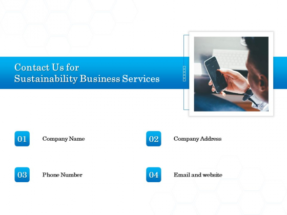 Green Business Contact Us For Sustainability Business Services Themes PDF