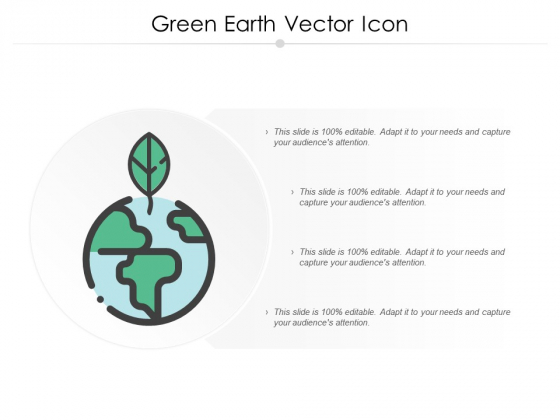 Green Earth Vector Icon Ppt PowerPoint Presentation Gallery Microsoft