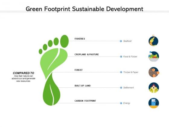 Green Footprint Sustainable Development Ppt PowerPoint Presentation Portfolio Tips