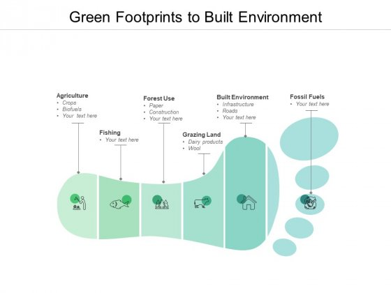 Green Footprints To Built Environment Ppt PowerPoint Presentation Infographic Template Graphics Pictures