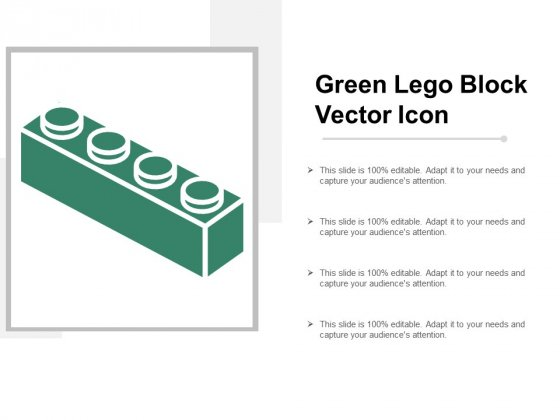 Green Lego Block Vector Icon Ppt Powerpoint Presentation Show Master Slide