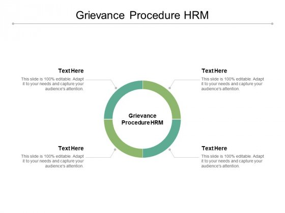 Grievance Procedure HRM Ppt PowerPoint Presentation Icon Vector Cpb