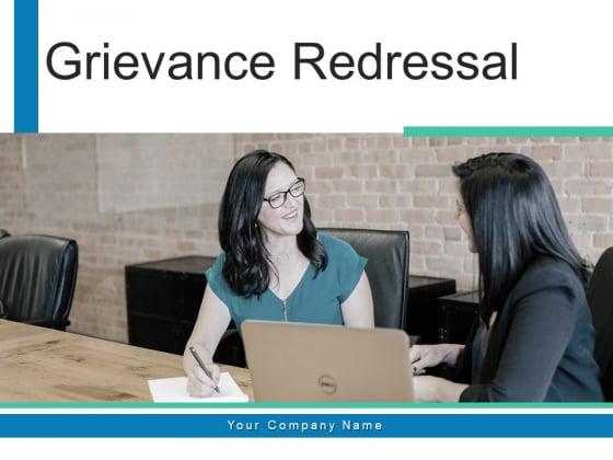 Grievance Redressal Project Organization Ppt PowerPoint Presentation Complete Deck