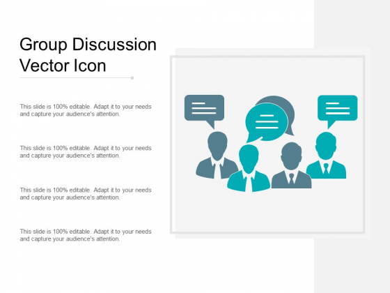 Group Discussion Vector Icon Ppt PowerPoint Presentation Gallery Diagrams