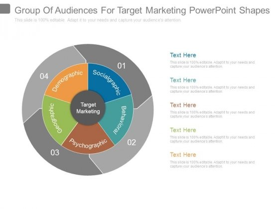 Group Of Audiences For Target Marketing Powerpoint Shapes