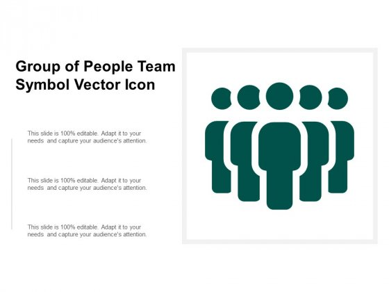 Group Of People Team Symbol Vector Icon Ppt PowerPoint Presentation Pictures Shapes
