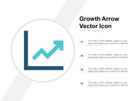 Growth Arrow Vector Icon Ppt Powerpoint Presentation Inspiration Elements