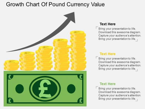 Growth Chart Of Pound Currency Value Powerpoint Template