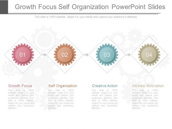 Growth Focus Self Organization Powerpoint Slides