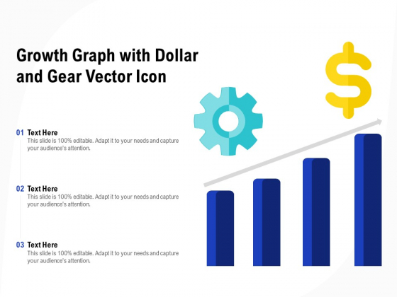 Growth Graph With Dollar And Gear Vector Icon Ppt PowerPoint Presentation Ideas Guide