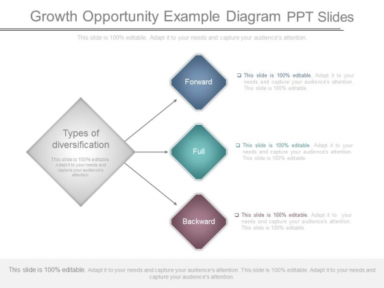 Growth Opportunity Example Diagram Ppt Slides