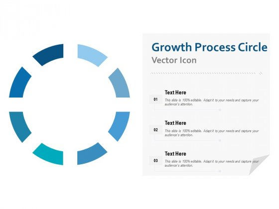 Growth Process Circle Vector Icon Ppt PowerPoint Presentation Portfolio Introduction