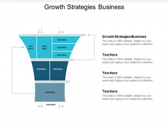 Growth Strategies Business Ppt Powerpoint Presentation Show Model Cpb