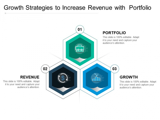 Growth Strategies To Increase Revenue With Portfolio Ppt PowerPoint Presentation File Icons PDF