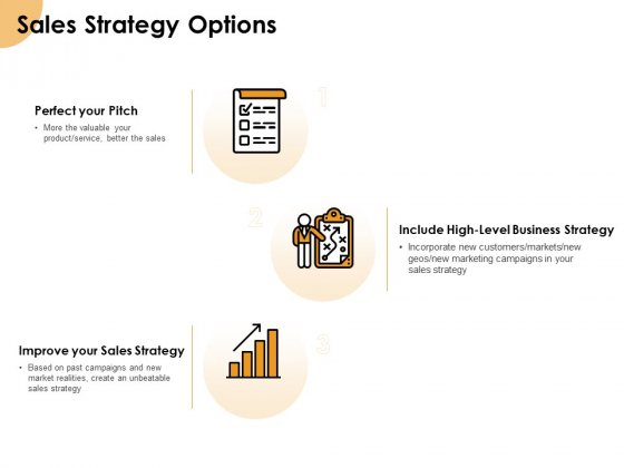 Growth Strategy And Growth Management Implementation Sales Strategy Options Ppt Show Portrait PDF