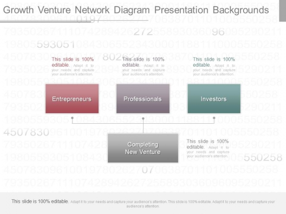 Growth Venture Network Diagram Presentation Backgrounds