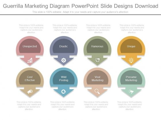Guerrilla Marketing Diagram Powerpoint Slide Designs Download